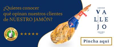 Banner opiniones clientes sobre Jamones Vallejo