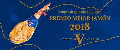 premio Mejor jamón de españa para Jamones Vallejo